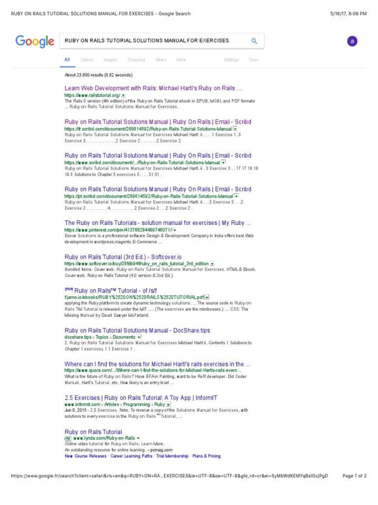 Ruby On Rails Tutorial Ebook