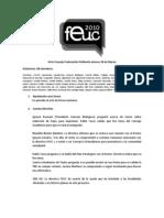 Acta Consejo Ordinario Marzo FEUC 2010