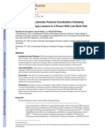 an analysis of the article improvement in autonomic posture coordination following alexander techniq Following a basic sciences foundation in the first  including a posture analysis with special attention to  the amount of improvement depends on several.