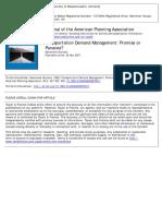 Transportation Demand Management- Promise or Panacea