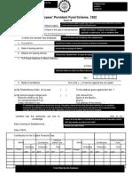 PF Withdrawal Form 19 - Sample