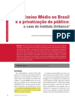 Ensino Medio No Brasil e a Privatização - Maria Caetano