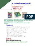 summer art camp - 2017