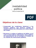 La Inestabilidad Política