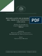 Recopilacion de Jurisprudencia Del Tribunal Constitucional