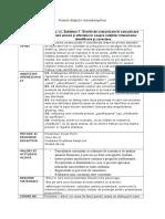Proiect Didactic Transdisciplinar