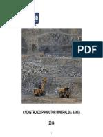 Cadastro Do Produtor Mineral Da Bahia 2014