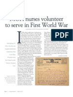 MGH Nurses Volunteer to Serve in First World War