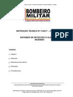 It 14 - Detecao e Alarme de Incendio - 2a Edicao 2017