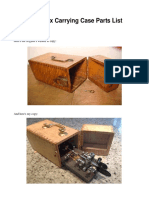 Custom Wood Vibroplex Carrying Case Construction Details