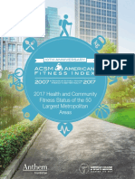 ACSM American Fitness Index Report 2017