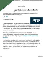 Edílson Cumpre Suspensão Também Na Copa Do Brasil e Desfalca o Grêmio _ Rs _ Futebol _ Times _ Grêmio _ Globoesporte