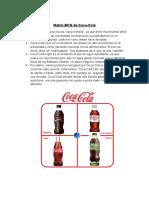 Matriz BCG de Coca-COLA