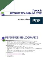 2 Documentul HTML (I)