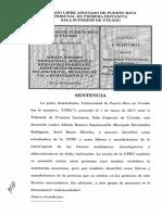 Sentencia de la demanda UPR Utuado