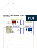 Automatic Traffic Light Using PIC Microcontroller Code , Circuit Diagram and Explanation – Electronify
