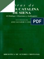 Obras de Santa Catalina de Siena, Fray Jose Salvador y Conde OP-BAC