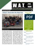 S.W.A.T. Jul-Aug 2014 Newsletter