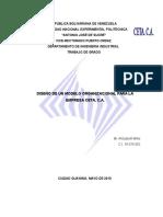Diseno Modelo Organizacional Empresa Ceta c A