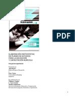 Elaboración Participativa de Los Planes de Estudio FAO