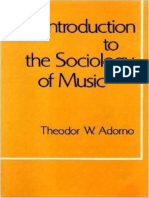 Theodor w Adorno Introduction to the Sociology of Music 1976
