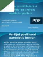 31188955 Reeducarea Vestibulara a Pacientilor Cu Sindrom Vestibular Periferic