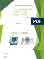Comparatie Sydney si Bălți, Brașov si Vaslui