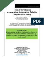 National Certification Examination Information Bulletin
