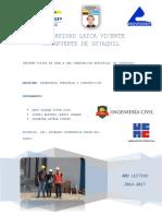 Informe Tecnico de Visita a Obra Subestacion Electrica El Chorrillo