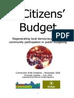 A Citizens' Budget