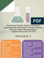 Kelompok 2_Penentuan Kadar Tablet Campuran Parasetamol Dan Kafein
