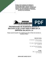 PROPIEDADES DE INVERSIÓN SEGÚN LA SECCIÓN 16 DE LA NIIF PARA PYMES EN LA EMPRESA SALNOCA C.Al