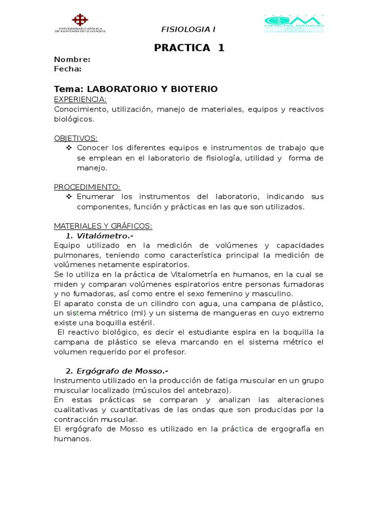 Folleto de Practica Fisiologia i Dr. Bonilla