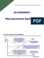 IB Economics Notes - Macroeconomic Equilibrium