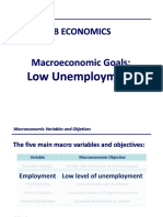 IB Economics Notes - Macroeconomic Goals Low Unemployment (Part 1)