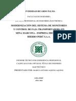 Modernización Del Sistema de Monitoreo y Control de Faja Transportadora en Mina Marcona