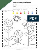Colorea Flores Numeros Vocales (1)