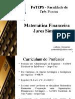 Slides 2 - Int Mat Financeira e Juros Simples