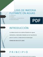 Análisis de Materia Flotante en Aguas