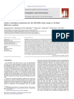 Surface Subsidence Prediction for the WUTONG Mine Using a 3-D Finite Difeerence Method