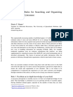 Ten Simple Rules for Searching and Organizing the Scientific Literature