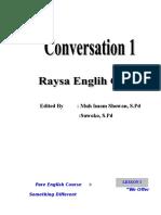 Conversation for pondok.doc