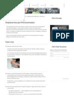 Peripheral Vascular (PVS) Examination OSCE Station Guide