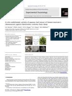 In vitro anthelmintic activity of aqueous leaf extract of Annona muricata L. (Annonaceae) against Haemonchus contortus from sheep