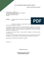 Carta Consorcio El Inca Primera Entrega