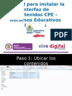 tutorial para instalar interfaz CPE