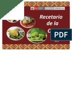 Recetario de Quinua del Ministerio de Salud 2012