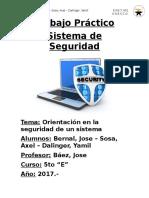 Trabajo Práctico - Sistema de Seguridad