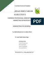 Monografia Teorias Administrativas - Mayo 2017