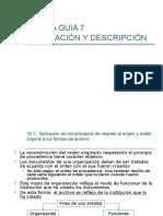 Organizacion y Despcripcion Documental